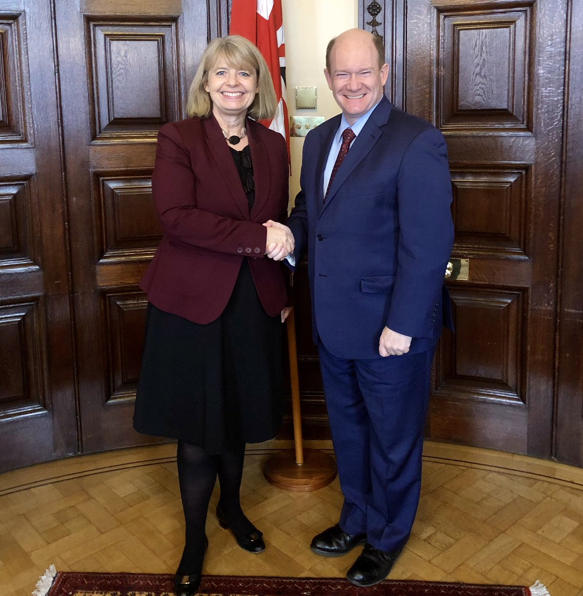 During my visit to London, I was honored to discuss the shared interests of the US and the U.K. in Africa with Minister @HBaldwinMP We have a lot of good work we can do together to help an increasingly important continent of 54 countries.
