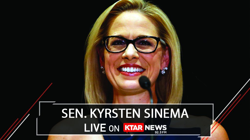 U.S. Sen. Kyrsten Sinema will join @MacandGaydos at 2:30 p.m. for her monthly exclusive interview.   Tune to Arizona's News Station on 92.3 FM, our app or online: https://t.co/yZGKw0g8ON.