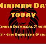 Image for the Tweet beginning: Minimum Day today! #lionpride