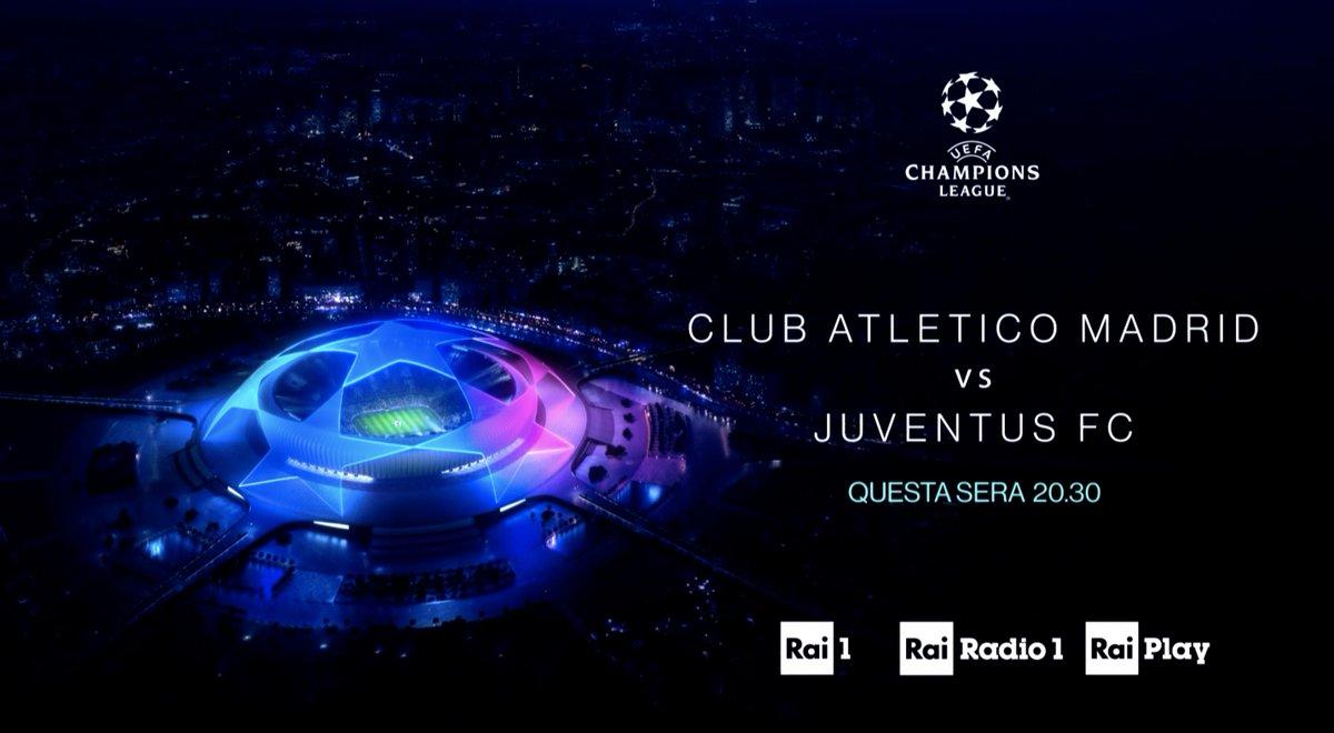 ⚽ La grande Champions League sulla #Rai  📌 Stasera dalle 20:30 #AtleticoMadridJuventus su @RaiUno e a seguire #MagazineChampions 📌 Giovedì alle 23 #ChampionsGol, la nuova rubrica di approfondimento su @RaiSport+HD  #AtletiJuve #UCL #RaiChampions