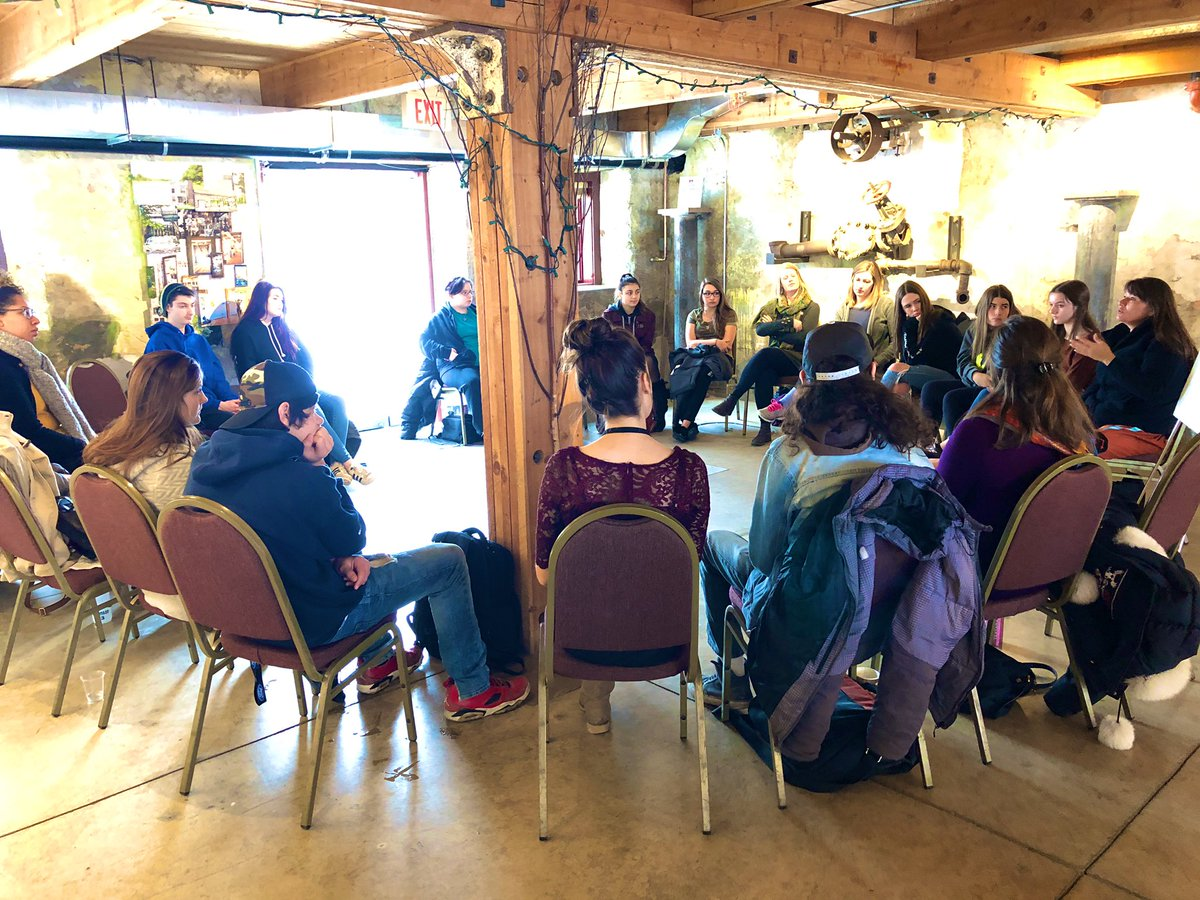 Much #gratitude to @Giidaakunadaad1 for spending time with @ugdsb #Indigenous youth connecting up with teachings today & yesterday. Thankful for community partners U of G & MNO sharing about their services – at The Alton Mill