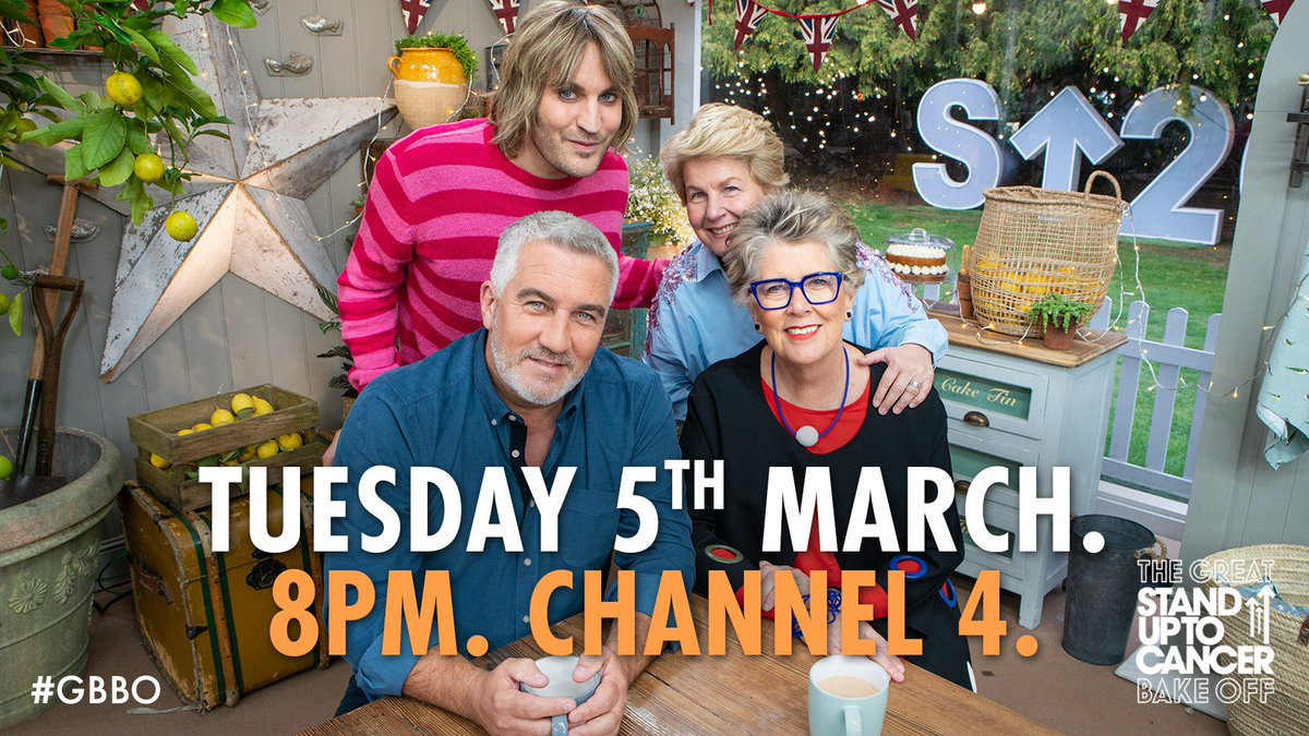 Baking for a great cause.  The Great Stand Up To Cancer Bake Off. Coming Soon. #GBBO