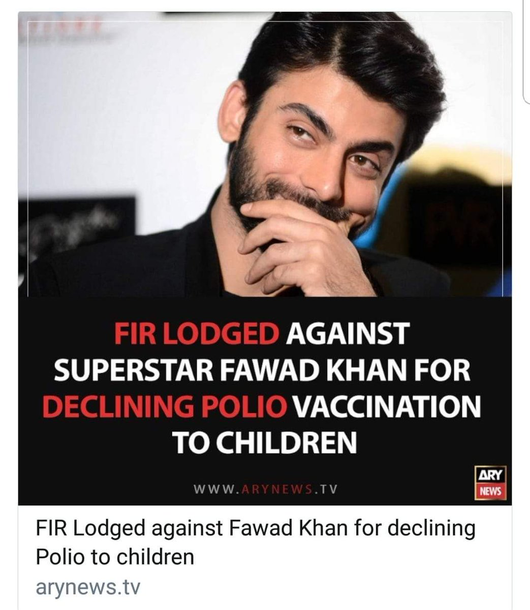 I am going to strongly reject and protest this madness.... Polio campaign is over dozing children with OPV...whose credentials are not known.  You cannot force a parent to overdose his child.  Children are getting dozens of dozes ...insane.. I support #FawadKhan here...