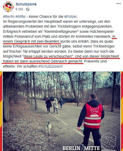RT @AZeckenbiss: Toleriert die @polizeiberlin das die #NPD #Schutzzone #Berlin  Trickbetrüger vertreibt? https://t.co/E1Wi5FsEb7