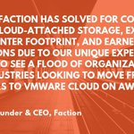 Image for the Tweet beginning: Faction Drives Adoption of VMware