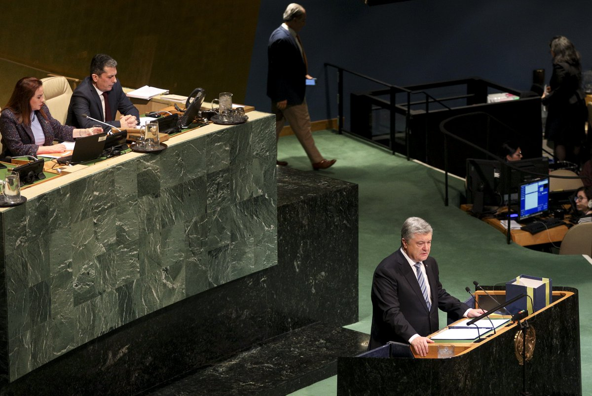 To overcome humanitarian consequences of the Russian military aggression, over the last five year UN agencies have mobilized more than 460 ml US dollars. We are grateful for the assistance provided by our international partners to millions of people in need.  #UNGA <br>http://pic.twitter.com/hjwIpWbpQ9