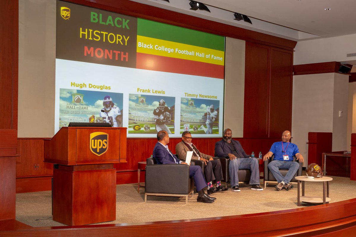 We had the honor of hosting three of the 2019 Black College Football Hall of Fame inductees Hugh Douglas, Frank Lewis and Timmy Newsome. The NFL retirees are alumni from historically black colleges and universities and spoke on the value of a higher education. #BlackHistoryMonth