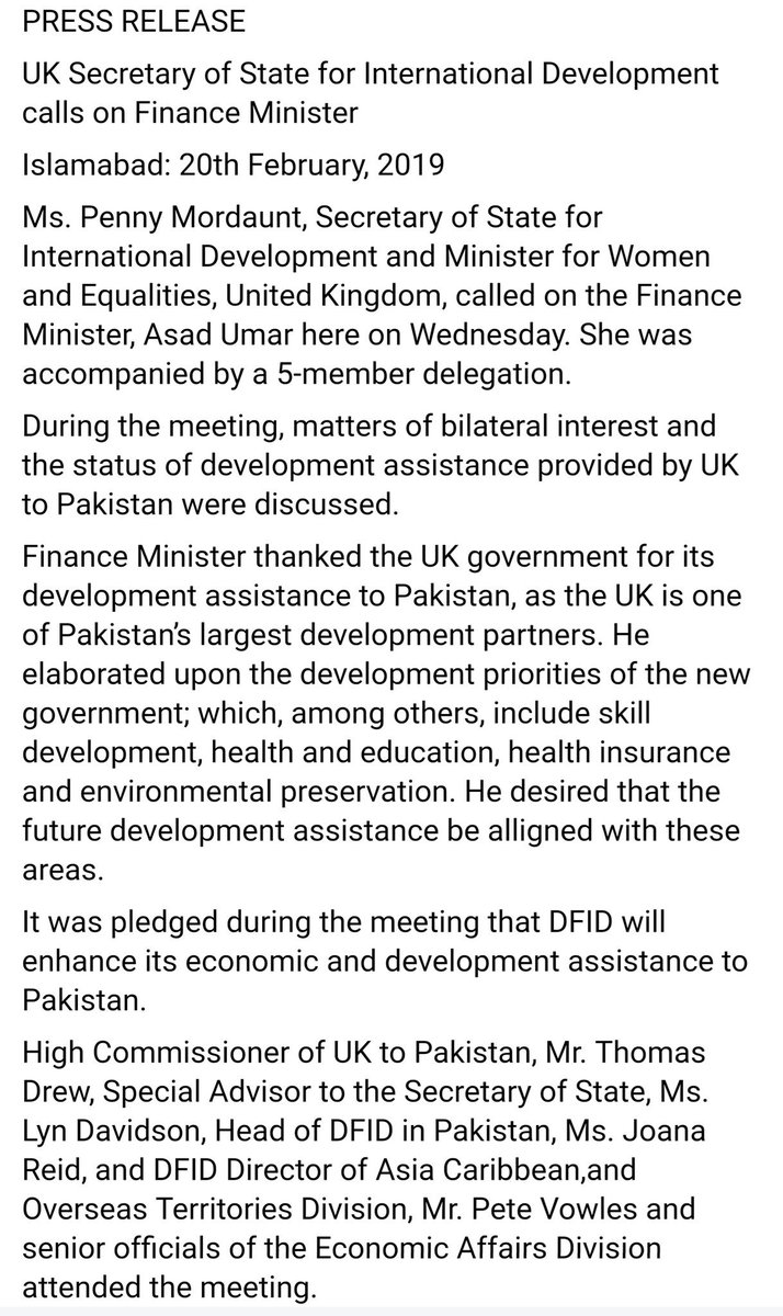 United Kingdom to increase Development assistance to Pakistan. #UK #Pakistan