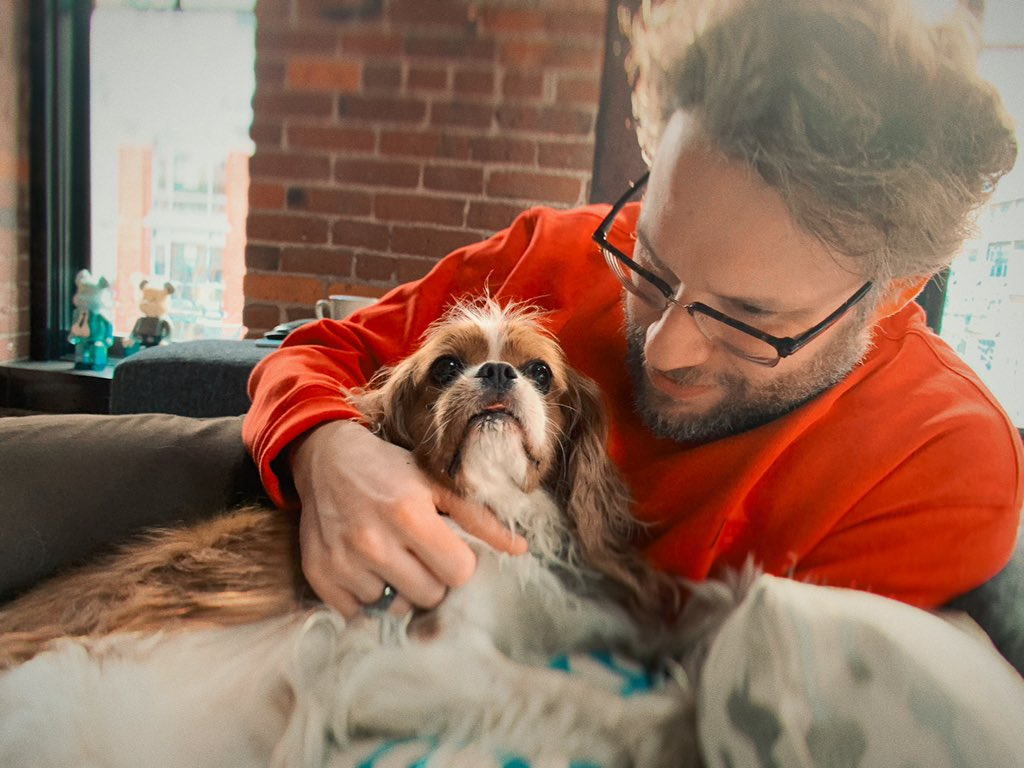 Seth Rogen's photo on #LoveYourPetDay