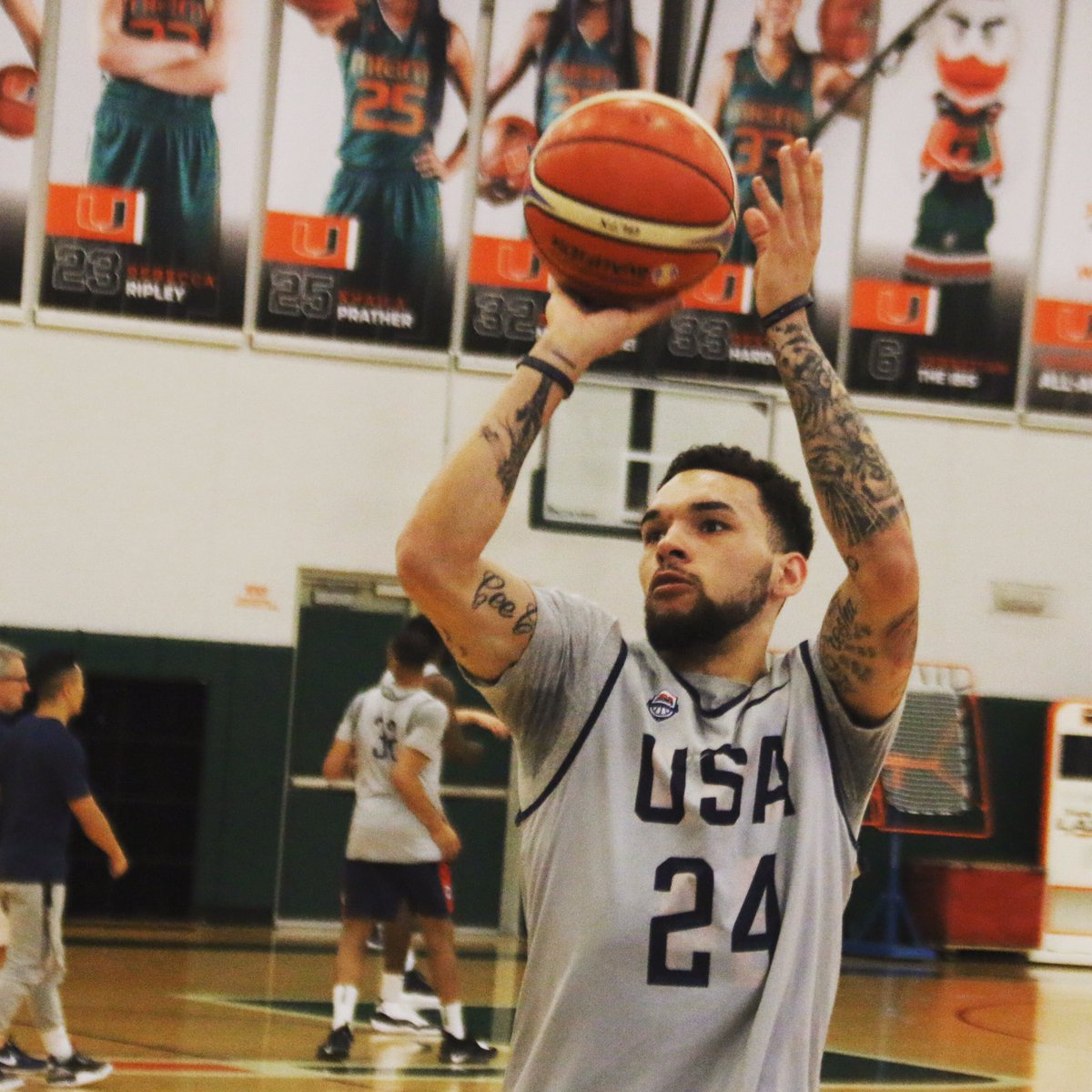 Roster set. @Chiozza11 is gonna be ballin' for @usabasketball against Panama & Argentina in final @FIBAWC qualifying window.