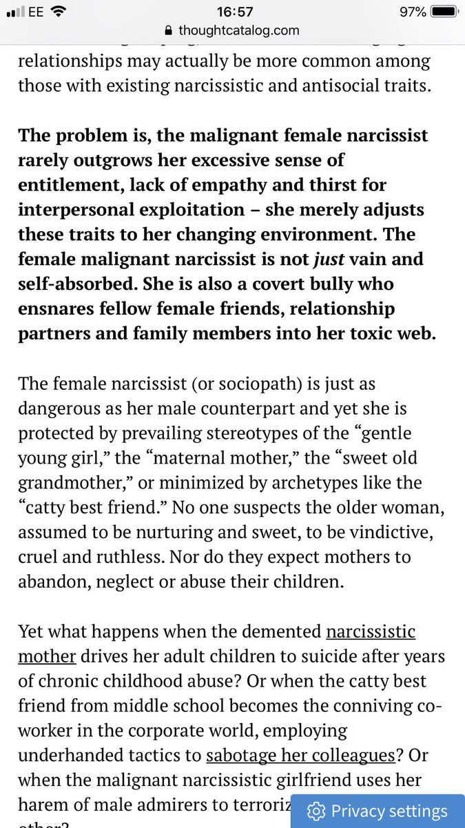 Covert Narcissist Harem
