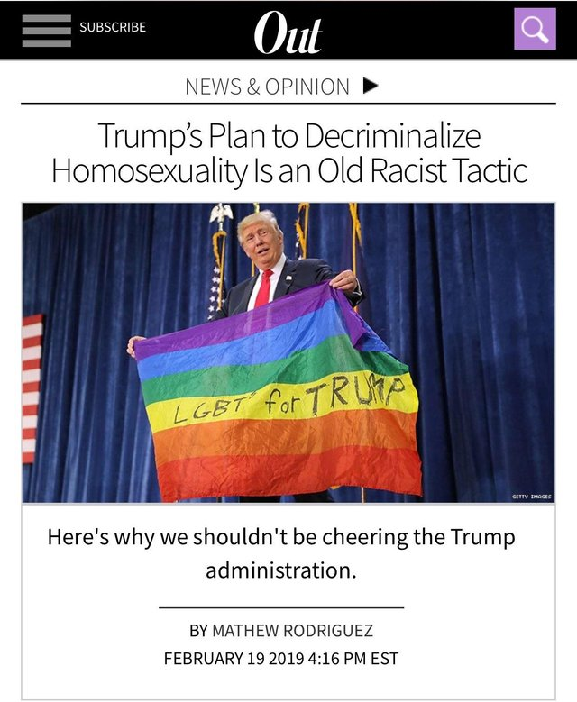 "Apparently, trying to prevent gay people from being imprisoned, tortured and executed is ""racist"" because ORANGE MAN BAD."