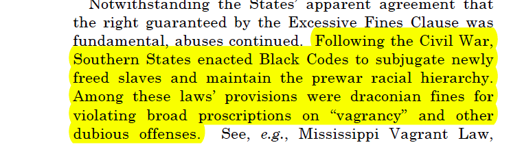 BREAKING: RBG delivers #SCOTUS opinion in Timbs v. Indiana where she situates protection from excessive fines in history of black codes & convict labor after the Civil War 🔥  https://www.supremecourt.gov/opinions/18pdf/17-1091_5536.pdf…