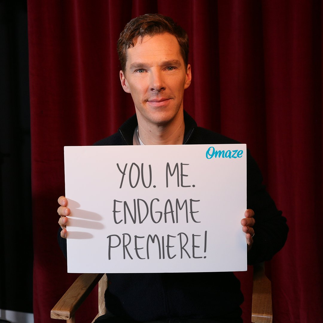Want to meet #BenedictCumberbatch? AND be one of the first people in the world to see #Avengers: Endgame?! #omaze  Support a great cause and ENTER: http://bit.ly/2GP0Rk9