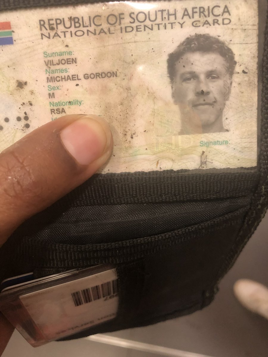 Michael Viljoen if you are out there your wallet is at the Caltex garage on Beyers Naude.