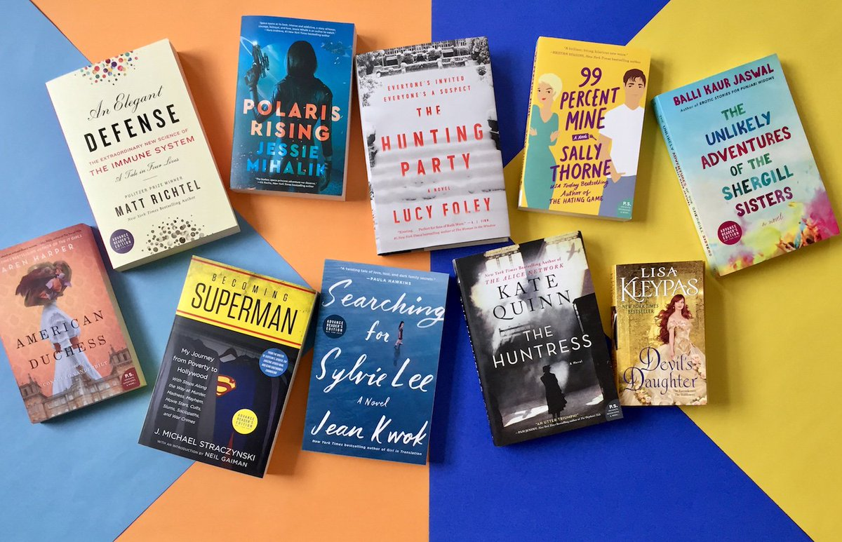 Today on Facebook! We're going LIVE to tell you all about this colorful collection of new books that will brighten up your life in the gray days of winter.   Join us at 2pm ET to hear all about them & learn how you could be the lucky winner of each book: http://facebook.com/WilliamMorrowBooks…