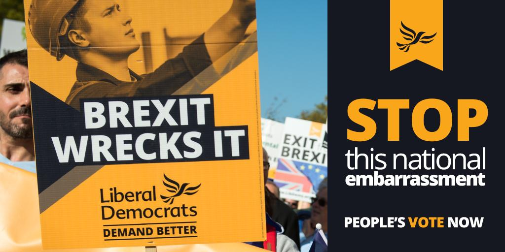 Britain is better than this Brexit mess. Enough is enough. It's time to stop this national embarrassment. Demand a People's Vote > http://www.libdems.org.uk/exit-brexit