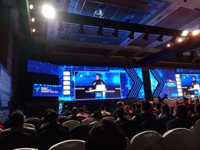 Addressed the NASSCOM Technology Leadership Forum 2019 in Mumbai.   Released the Trillion Dollar Digital Economy report that lays a roadmap for developing India as a trillion dollar digital economy in next five years.  #DigitalIndia #ThinkDigitalThinkIndia