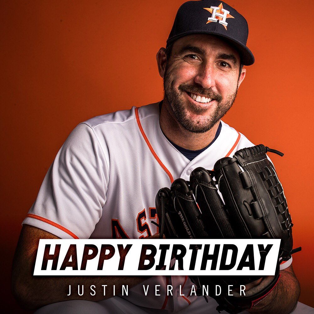 Happy birthday to #Astros pitcher, @JustinVerlander! 🐐