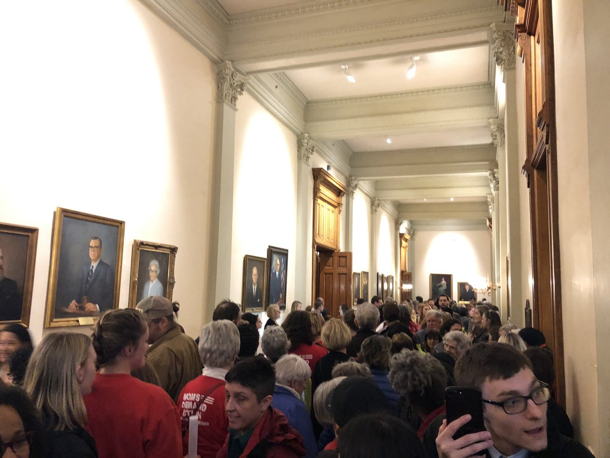De(mom)cracy In Action  The gun lobby messed with the wrong people! 😳😏  @MomsDemand filled the State Capitol hallways.  Reform is coming 👏🏾👏🏾👏🏾👏🏾  #ExpectUs 🇺🇸  #GaPol 🍑 – at Georgia State Capitol