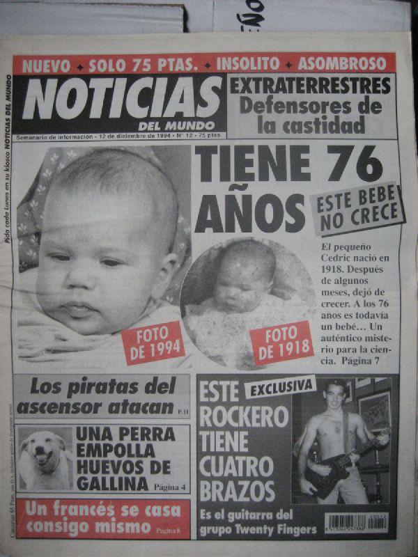 Este jueves a las 22:30 en @laSextaTV #DóndeEstabas95. Arrancamos con una publicación un tanto peculiar: 'Noticias del mundo'. DENTRO HILO: ⬇️