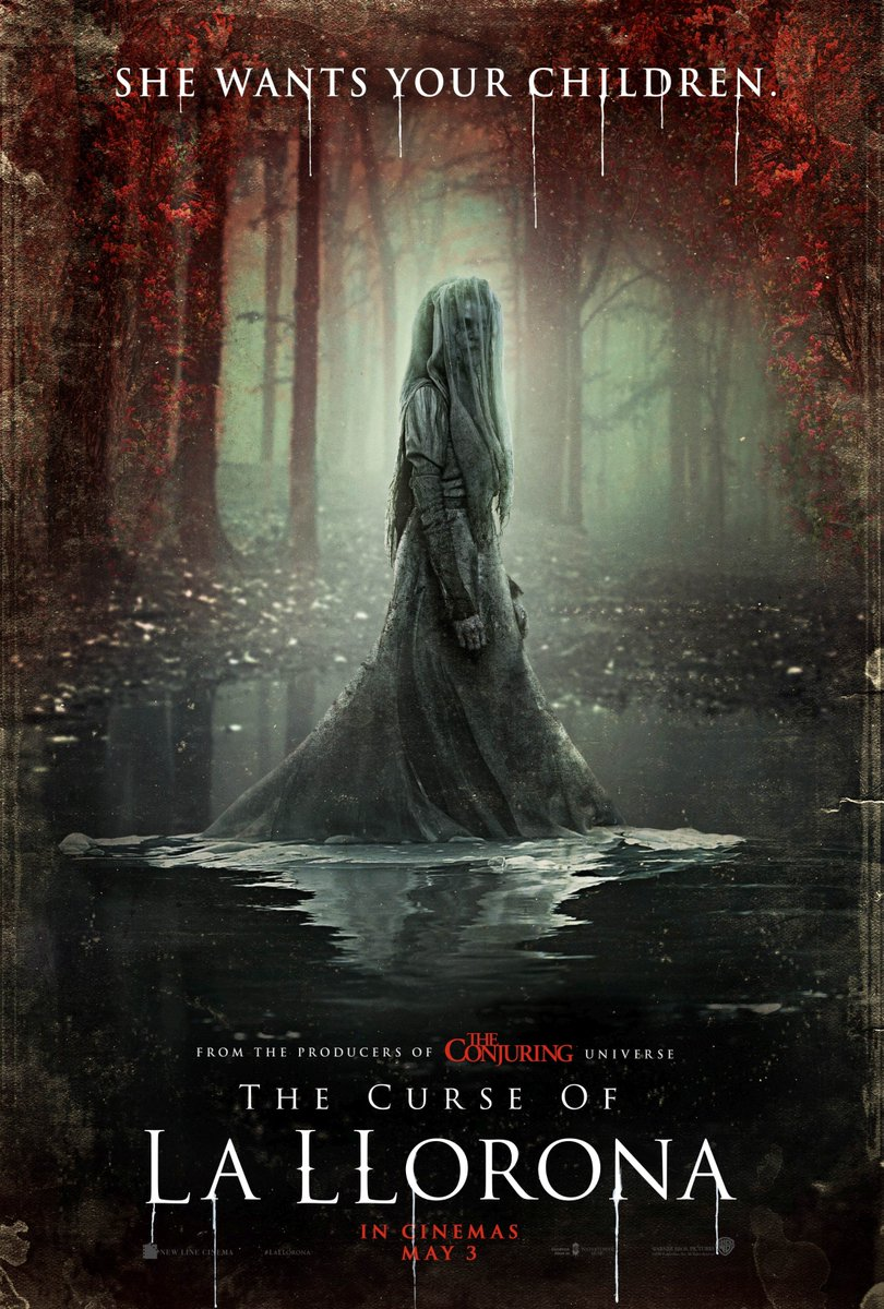 Have you felt the sting of her tears? Check out the new art for The Curse of #LaLlorona, in cinemas May 3.