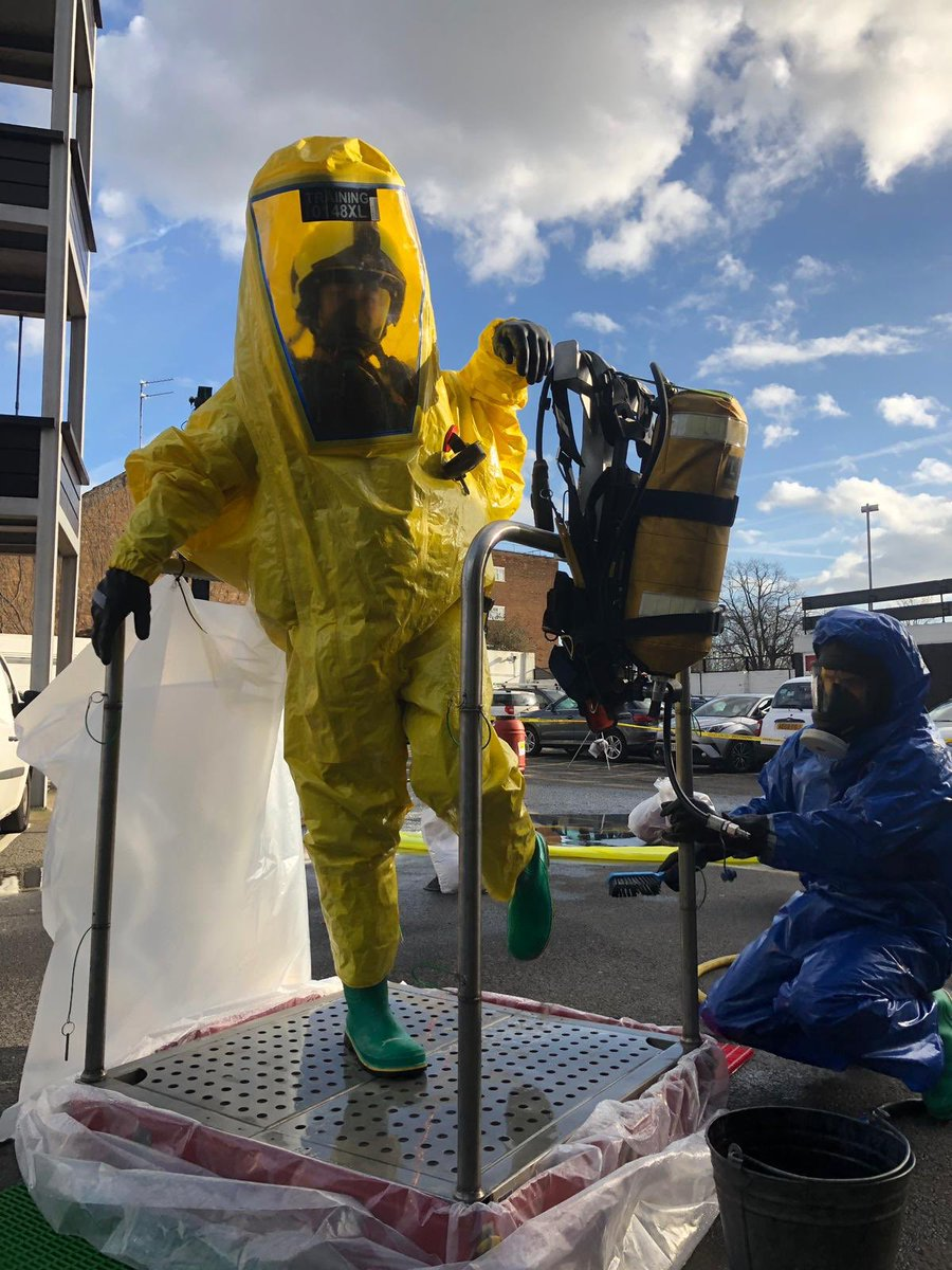 @LFBLEWISHAM using chemical protection suits to deal with a simulated hazardous materials incident. #alwaysprepared #Training #Hazmat #chemicalprotection #PPE #development #Maintenance #notjustfires