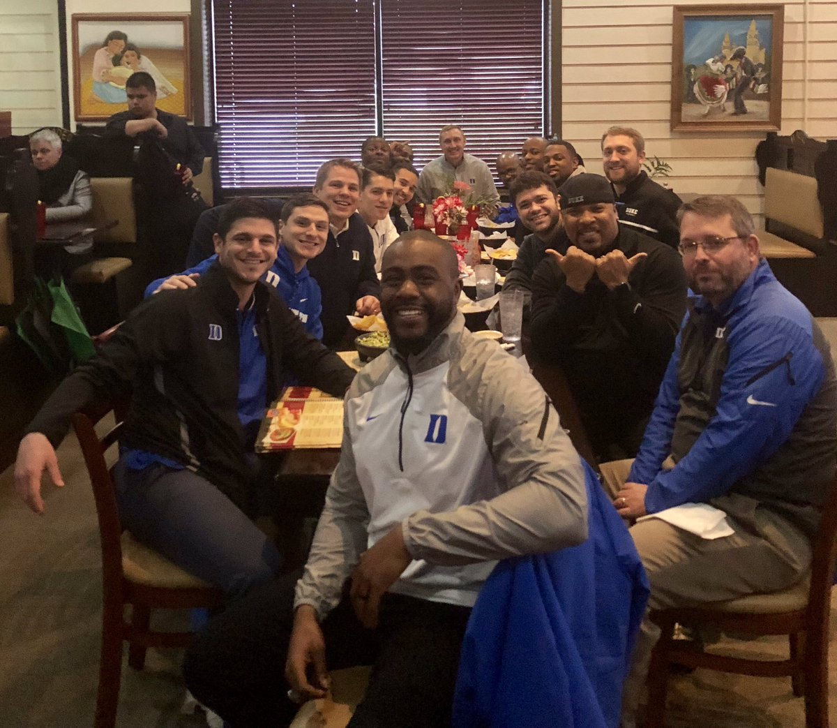 """Happy Birthday Coach """"Troop Doggy Dog"""" #DukeGang is one big happy family."""