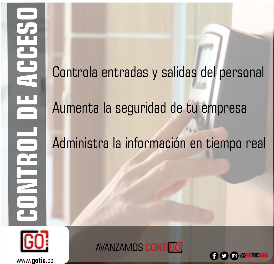Ya es hora de aprovechar todas las #Ventajas de un #Sistema de #ControlDeAcceso. Contáctanos para comenzar http://www.gotic.co  #AvanzamosContiGO #EntradaySalida #Tecnología #Seguridad #Lector #Biometrico #Huella #Vigilancia #Acceso #Empleados #Empresas #Ingreso  #Clientes