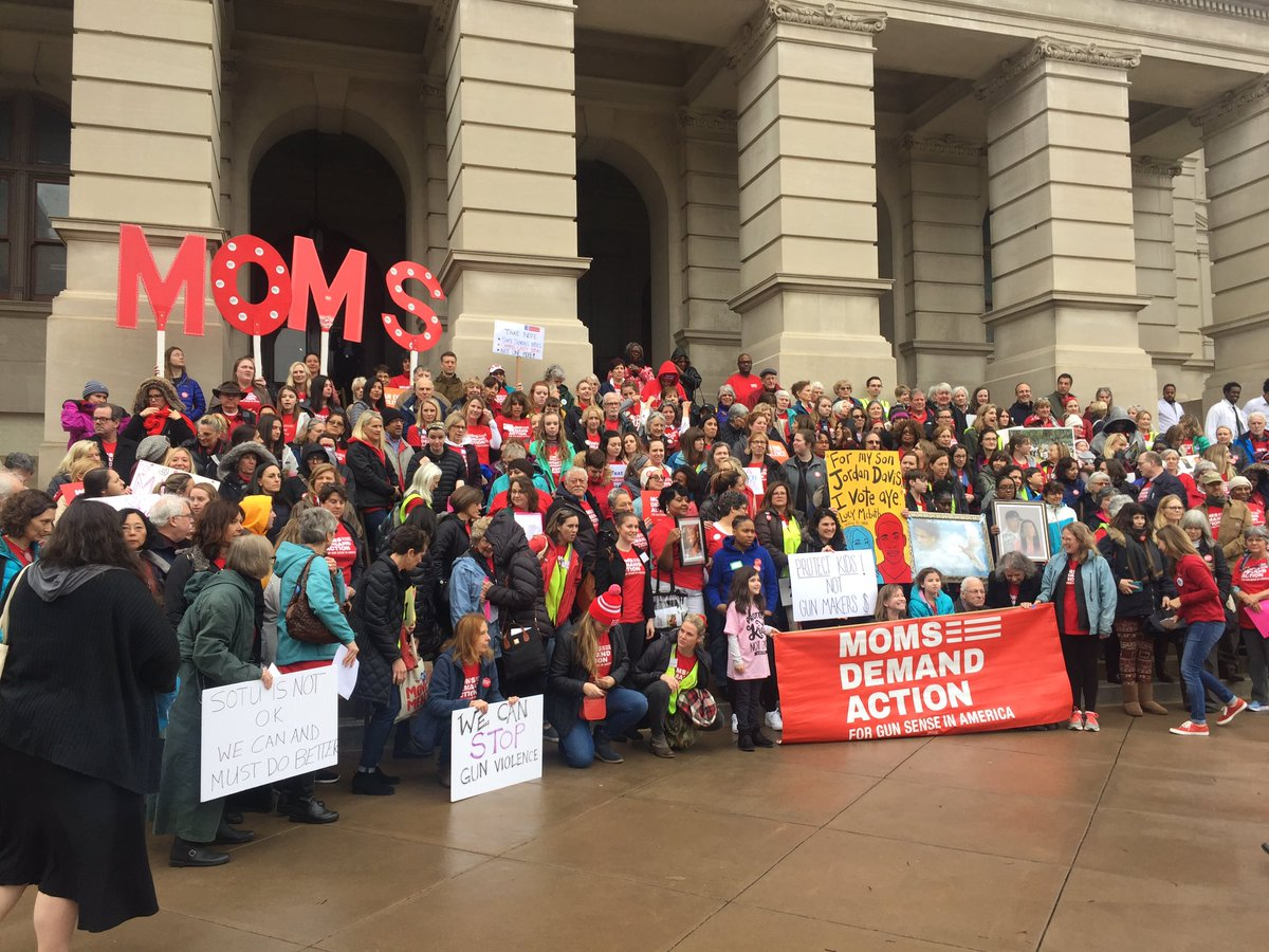 @MomsDemand in full force and ready to make a difference moving forward. The national gaslighting and bullying has ignited a permanent spark that was felt in 2018 and will respond to fear with hope in 2020. #gapol #inspired #hopeful #Outnumbered