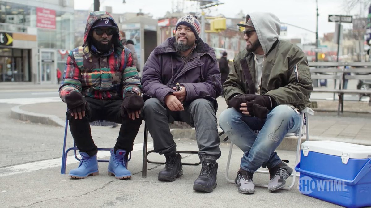 The guys spent a day in the BX getting advice on their new show. S/o Bronx Borough President @rubendiazjr.   Watch the @Showtime series premiere of #DESUSandMERO, tomorrow at 11/10c.