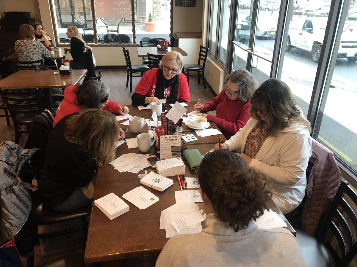 NJ @MomsDemand writing thank you cards too all 209 sponsors of #HR8. Thank esp to our local reps @RepBonnie @Malinowski #passhr8 #Enough @Everytown @shannonrwatts