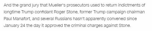 NEW: As Mueller gets ready to wrap up, here's what we've seen @CNNPolitics:  - Boxes carried out of the SCO - No grand jury meetings since Stone indictment - SCO prosecutors still coming in on holidays/snow days + additional DOJ prosecutors dropping by https://www.cnn.com/2019/02/20/politics/special-counsel-conclusion-announcement/index.html …