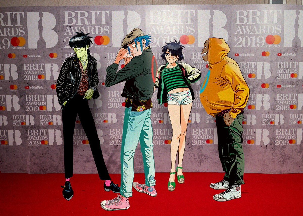 gorillaz's photo on #BRITS2019