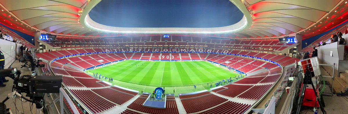 Not a bad stadium, is it?! The Wanda Metropolitano - venue for @atletienglish v @juventusfcen - and also May's @ChampionsLeague final.