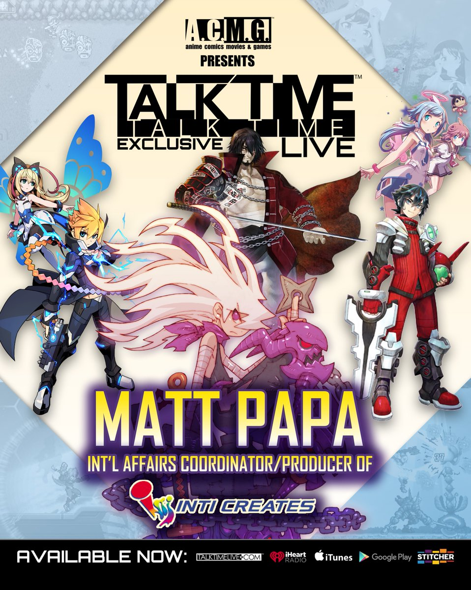 AVAILABLE NOW: We reach out to Japan to talk to @IntiCreatesEN own @MegaMatt77 talking about #DragonMarkedForDeath and much more going on with the Kings of Retro Gaming. Check us out on http://TALKTIMELIVE.COM @iTunes @Stitcher @iHeartRadio @GooglePlay #gaming #NintendoSwitch