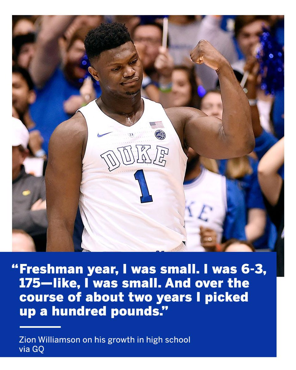 Zion put on 100 pounds in TWO years 💪