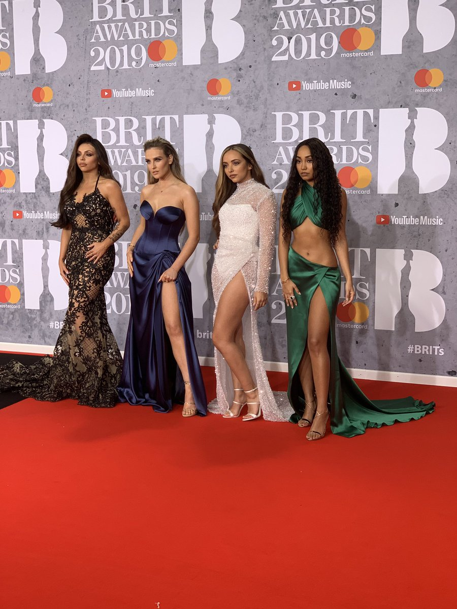 🙌🙌🙌THE GIRLS HAVE ARRIVED🙌🙌🙌  @LittleMix at the #BRITs #LittleMixAtTheBRITs
