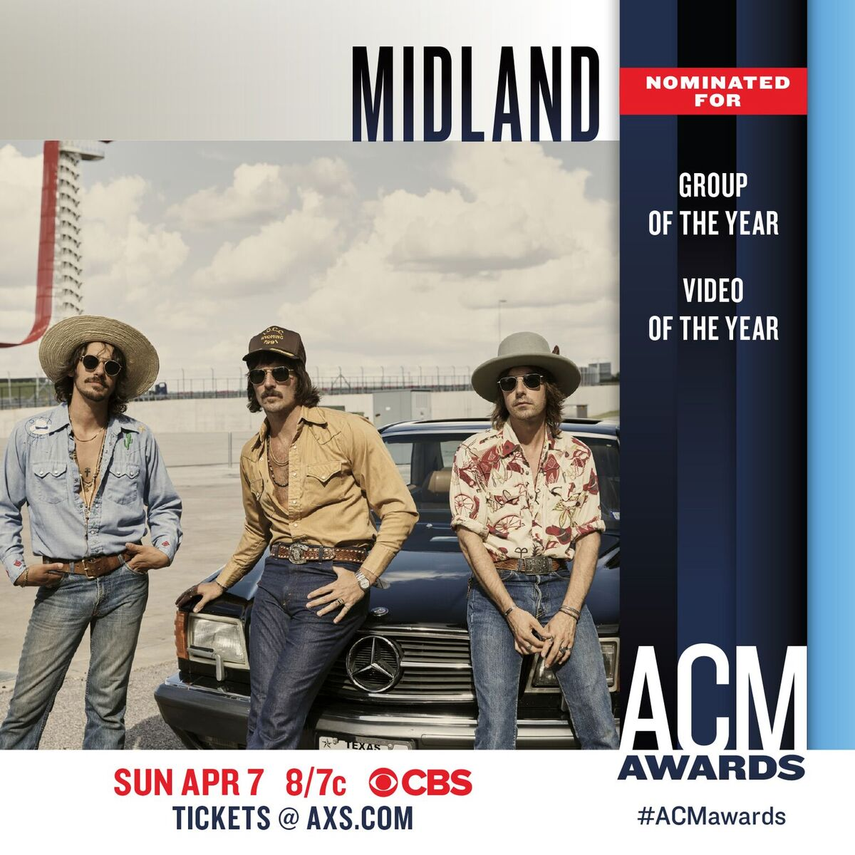 How bout that?! Two @ACMawards nods. We&#39;re honored to be nominated for the 2nd year in a row...We&#39;re feeling lucky in 2019. <br>http://pic.twitter.com/fMHhbgymXK