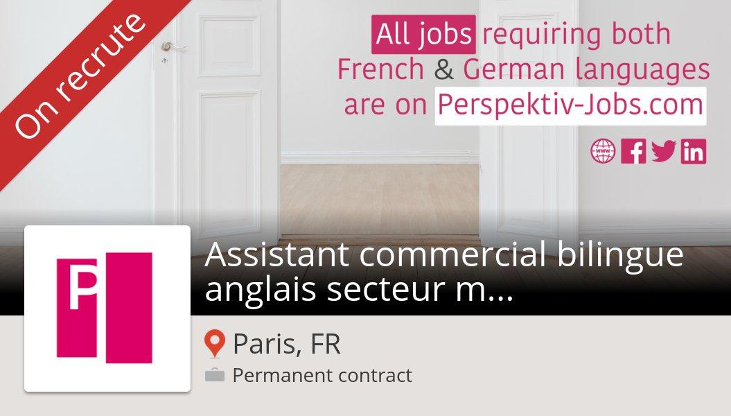 Besoin d'un #Assistant #commercial bilingue anglais secteur mobilier de bureau #Paris, postulez dès maintenant chez #Bene! #job https://workfor.us/perspektivjobs/2hm…