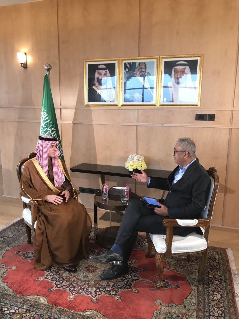 India and Saudi Arabia have shared concerns on terror, we will work together to de-escalate tensions but how can we condemn Pakistan when we don't have the evidence before us yet. Saudi FM in an interview to me on India Today  India is trying so hard..