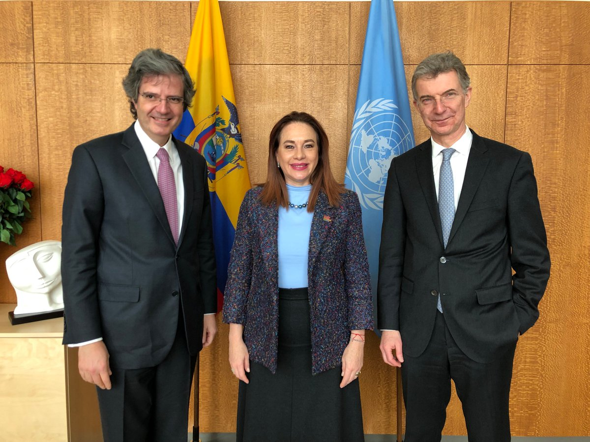 Met the upcoming Presidents of @UN Security Council @GermanyUN @franceonu. For the first time the UNSC will have joint presidencies -March &amp; April, with a programme of work aligned to the priorities of #UNGA. Better coordination in the work of the UN, such as this, is commendable <br>http://pic.twitter.com/Q3MocGec0r