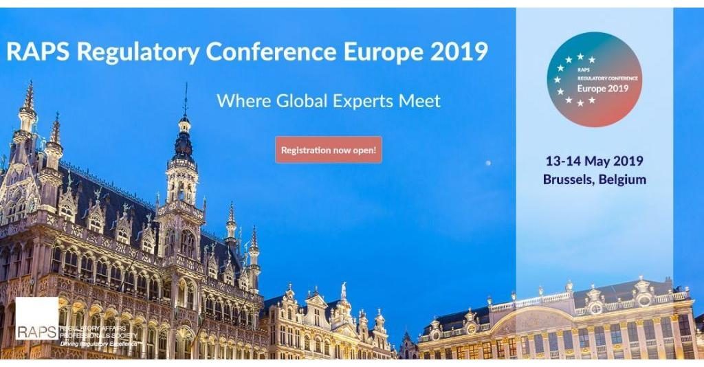 RAPS Regulatory Conference Europe 2019 will be held 13-14 May in Brussels. This conference is 100%  regulatory focused, developed to help increase regulatory capacity, knowledge and competency in Europe. Register now! https://rlm.ag/1Ug2X9