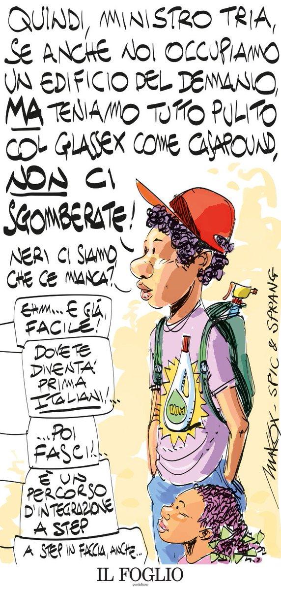 Lo sgombero (mancato) di #Casapound visto da @makkox  Qui tutte le sue vignette per il Foglio  https://t.co/zkrTIqMehq