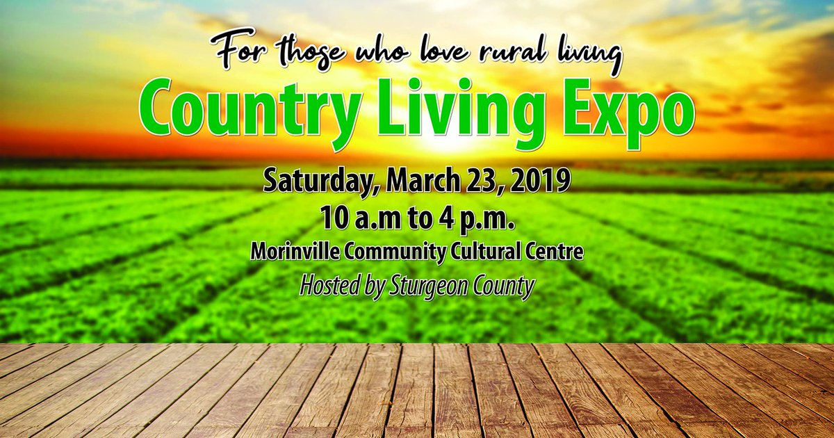 Join us at the Country Living Expo March 23.  We'll have some great drop-in information sessions, a conversation area, local vendors and of course, a concession area. Best of all, it's free to attend. Mark your calendar!  #SturgeonProud https://bit.ly/2GTZSPB