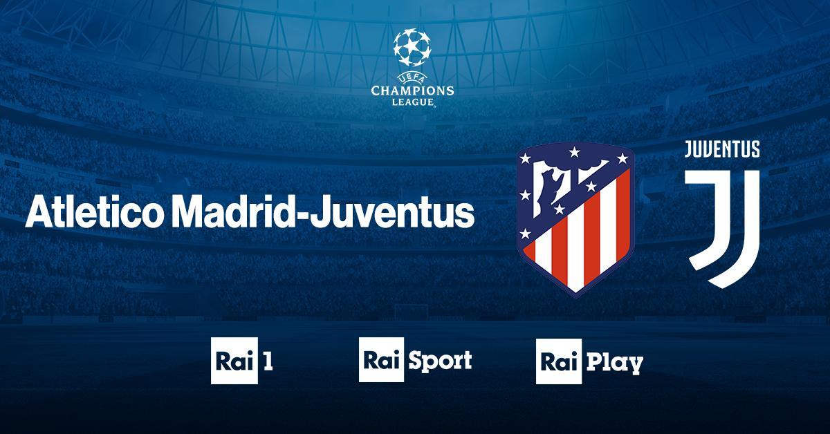 ⚽ Champions League, andata ottavi: tutto pronto per il fischio d'inizio di #AtleticoMadridJuventus  📺 adesso in diretta su @RaiUno 💻 http://raisport.rai.it  📲 http://bit.ly/Rai1Champions   #UCL #AtletiJuve #RaiChampions
