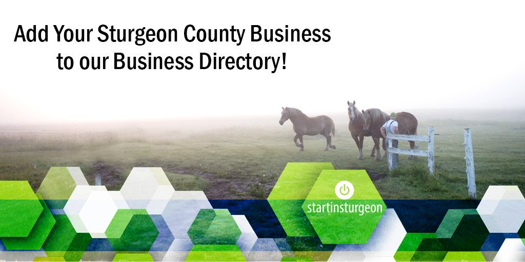 Do you have a business in Sturgeon County? Add your business to our business directory! It just might help you land your next sale or client. More info at http://www.startinsturgeon.ca