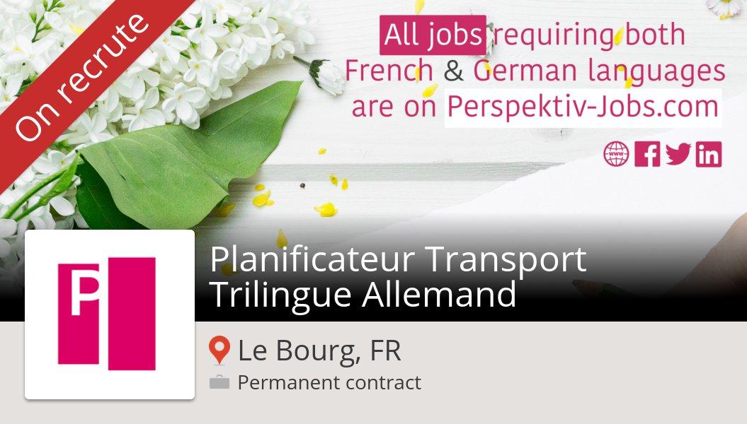 #XPOLogistics recrute un(e) Planificateur #Transport Trilingue Allemand #LeBourg, postulez dès maintenant ! #job https://workfor.us/perspektivjobs/2x8…