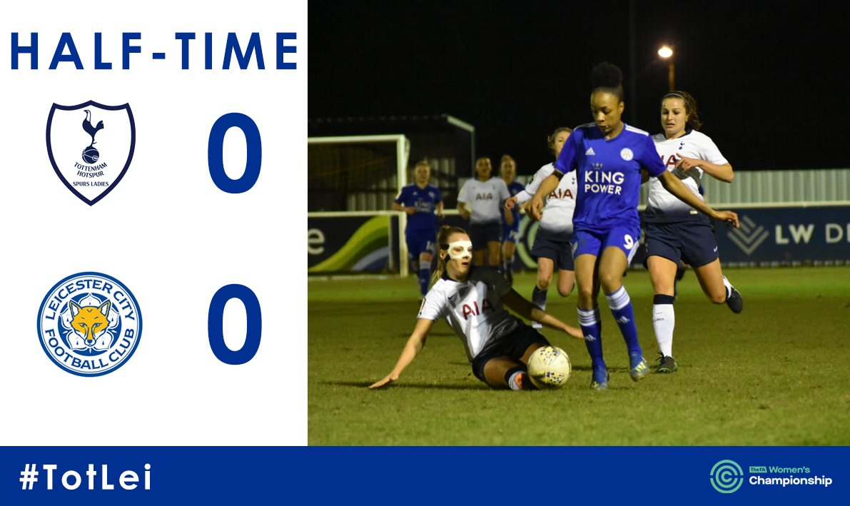 It's goalless thanks to a stunning save from Lambourne at the end of the half but the Foxes probably deserve to be leading at the break.   #TotLei