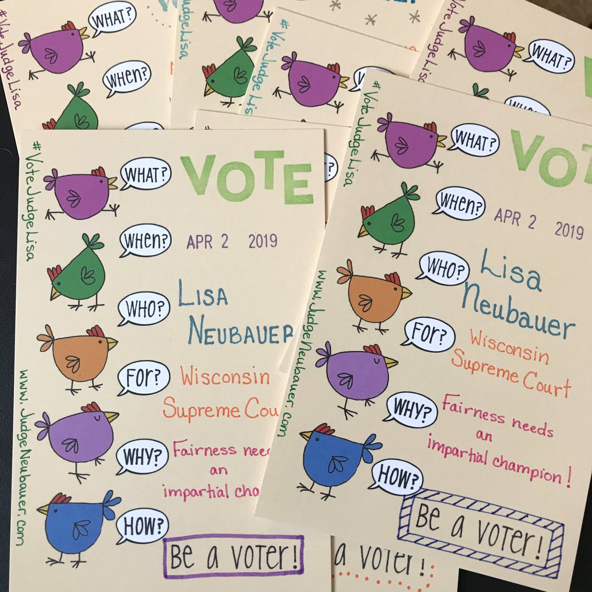 I'm excited to be writing to WI again after last year's successful campaigns! Join #PostcardsToVoters and give democracy a helping hand! #VoteJudgeLisa Fairness needs all of us as champions!